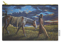 Carry-all Pouch featuring the painting Lakota Sunrise by Kim Lockman
