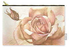 Lalique Rose Carry-all Pouch by Sandra Phryce-Jones