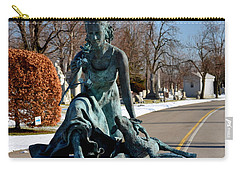 Carry-all Pouch featuring the photograph lamb and Rose by Richard Ricci