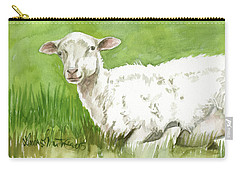Lamb In Spring Carry-all Pouch