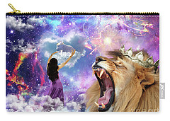 Carry-all Pouch featuring the digital art Lamb Of God by Dolores Develde