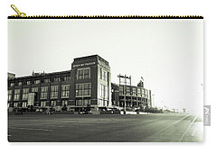 Carry-all Pouch featuring the photograph Lambeau Field Minimalistic by Joel Witmeyer