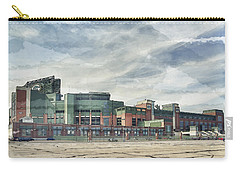 Carry-all Pouch featuring the photograph Lambeau Field Painterly Edition by Joel Witmeyer