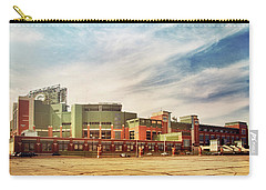 Carry-all Pouch featuring the photograph Lambeau Field Retro Feel by Joel Witmeyer