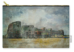 Carry-all Pouch featuring the photograph Lambeau Field Watercolor by Joel Witmeyer