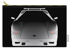 Lamborghini Countach 5000 Qv 25th Anniversary - Front View  Carry-all Pouch