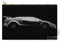 Lamborghini Countach 5000 Qv 25th Anniversary - Side View Carry-all Pouch
