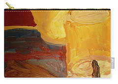 Carry-all Pouch featuring the painting Lamps In Color by Shea Holliman