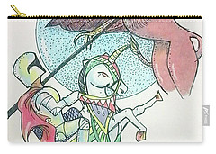Lancelot And Griffin  Carry-all Pouch by Loretta Nash