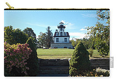Land Locked Lighthouse Carry-all Pouch by Catherine Gagne