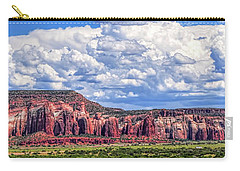 Land Of Enchantment Carry-all Pouch by Gina Savage