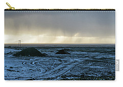 Carry-all Pouch featuring the photograph land of Lava by Dubi Roman