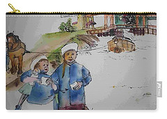 Land Of Windmill Clogs  And Tulips Album Carry-all Pouch by Debbi Saccomanno Chan