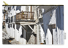 Carry-all Pouch featuring the photograph Street In Capileira Puebla Blanca by Heiko Koehrer-Wagner