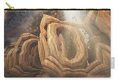 Carry-all Pouch featuring the digital art Landed by Melissa Messick