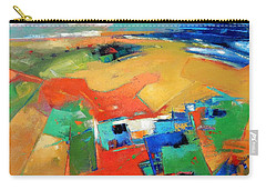 Carry-all Pouch featuring the painting Landforms, Suggestion Of A Memory by Gary Coleman