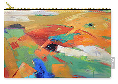 Carry-all Pouch featuring the painting Landforms, Suggestion Of Place by Gary Coleman