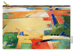 Carry-all Pouch featuring the painting Landforms, You've Never Been Here by Gary Coleman