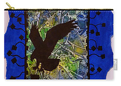Landing Eagle Silhouette Carry-all Pouch