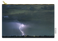 Carry-all Pouch featuring the photograph Landing In A Storm by James BO Insogna