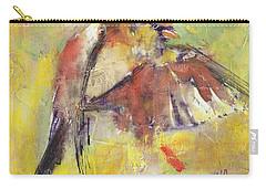 Landing On The Rainbow Carry-all Pouch by Vali Irina Ciobanu