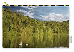 Carry-all Pouch featuring the photograph Landingville Lake Pennsylvania by David Dehner
