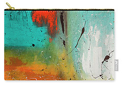 Carry-all Pouch featuring the painting Landmarks by Carmen Guedez