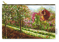 Carry-all Pouch featuring the painting Landscape 2 by Harsh Malik