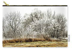 Landscape In Winter Carry-all Pouch by Odon Czintos