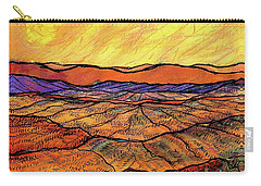 Landscape In Yellow Carry-all Pouch