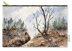 Carry-all Pouch featuring the painting Landscape by Sam Sidders