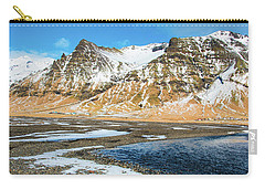 Carry-all Pouch featuring the photograph Landscape Sudurland South Iceland by Matthias Hauser