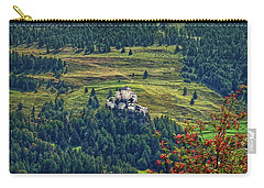Carry-all Pouch featuring the photograph Landscape With Castle by Hanny Heim