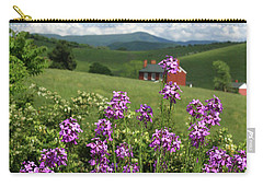 Landscape With Purple Flowers Carry-all Pouch