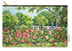 Landscape With Roses Fence Carry-all Pouch