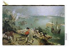 Landscape With The Fall Of Icarus Carry-all Pouch