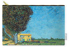 Carry-all Pouch featuring the painting Lane Near Arles by Van Gogh