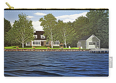 Carry-all Pouch featuring the painting Langer Summer Home Lake Simcoe by Kenneth M Kirsch