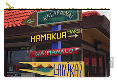 Lanikai Kailua Waikiki Beach Signs Carry-all Pouch