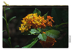 Lantana Flowers Carry-all Pouch by Kenneth Albin