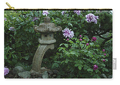 Lantern With Dahlia Carry-all Pouch