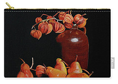 Lanterns And Pears Carry-all Pouch by Susan Duda