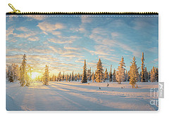 Carry-all Pouch featuring the photograph Lapland Panorama by Delphimages Photo Creations