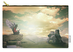 Carry-all Pouch featuring the digital art Laptop Dreams by Nathan Wright