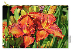 Large Deep Orange Tiger Lilys Carry-all Pouch