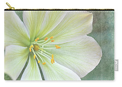 Carry-all Pouch featuring the pyrography Large Flower by Lyn Randle