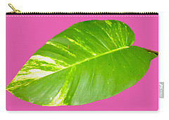 Carry-all Pouch featuring the digital art Large Leaf Art by Francesca Mackenney