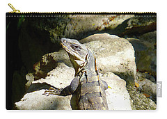 Carry-all Pouch featuring the photograph Large Lizard M by Francesca Mackenney