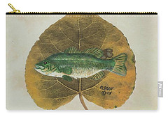 Large Mouth Bass Carry-all Pouch by Ralph Root