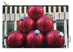 Large Red Ornaments Carry-all Pouch